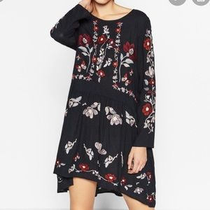 Zara Floral Embroidered Dress